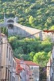 Ston,克罗地亚墙壁  免版税库存照片