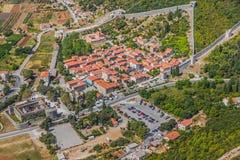 Ston antenn med stadsväggar, Kroatien Arkivbilder