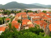 Ston antyczny miasto w południe Chorwacja - Zdjęcia Royalty Free