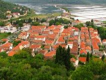 Ston antyczny miasto w południe Chorwacja - Fotografia Stock