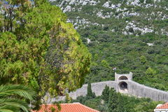Ston defense walls - Dalmatia, Croatia Stock Photo