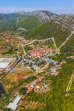 Ston Kroatien Arkivfoton