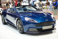 Aston Martin Vanquish car on display at The 36 th Bangkok Interna Royalty Free Stock Image