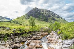 Ston mor mountain with river Etive in foreground. Lochaber, Scotland Stock Image