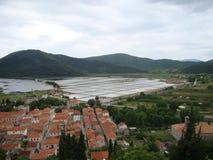 Ston salt pans, Ston, Croatia Royalty Free Stock Images