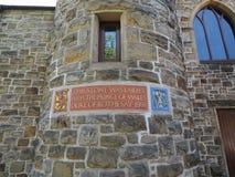 Stone από ο Πρίγκηπος της Ουαλίας που τοποθετείται στη Γλασκώβη Στοκ Εικόνα