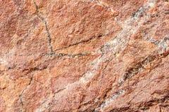 Stone, βράχος με την καφετιά σύσταση απόχρωσης, εκλεκτική εστίαση Για το υπόβαθρο, σκηνικό, υπόστρωμα, χρήση σύνθεσης Στοκ Εικόνες