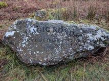 Stone με το γράψιμο: ΜΑΓΙΚΟΣ ΔΡΟΜΟΣ Στοκ εικόνες με δικαίωμα ελεύθερης χρήσης