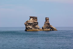 Stone στη θάλασσα Στοκ εικόνες με δικαίωμα ελεύθερης χρήσης