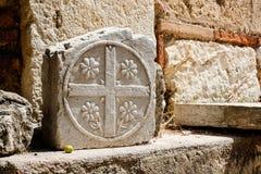 Stone στον ελληνικό ναό, Ελλάδα Στοκ Φωτογραφίες