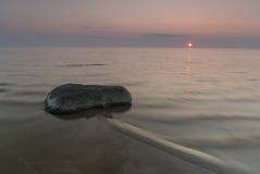Stone στο ηλιοβασίλεμα Στοκ Εικόνα