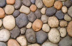 Stone. Wall stones, background circle textured Royalty Free Stock Images
