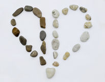 Stone. Sea stones laid out in the form of heart Stock Photo