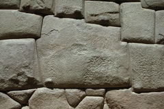 Stone of 12 Angles. The Incas build their walls with such perfection that they carved 12 angles in this stone to make it fit. Cuzco, Peru Royalty Free Stock Image