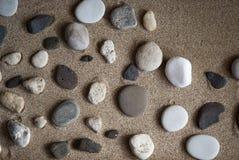 Stone. On raked sand. Mini rock garden. Zen concept Stock Images