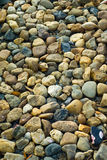 Stone. Wall pattern of gravel stone Royalty Free Stock Images