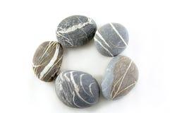 Stone. Smooth stone on white background Stock Image