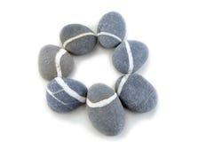Stone. Smooth stone on white background Royalty Free Stock Photo