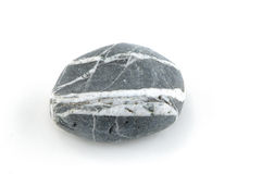 Stone. Smooth stone on white background Royalty Free Stock Photography