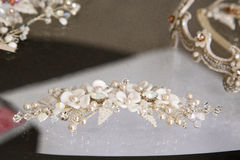 Stone accessories for brides. Stone accessories swarovski elements for brides stock images