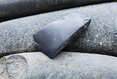 Stone Adze. An old stone adze from New Zealand Stock Photo