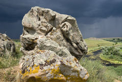 Stone against the sky Royalty Free Stock Photography