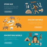 Stone Age Banners Royalty Free Stock Image