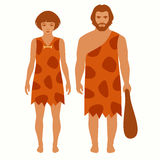 Stone age, cartoon caveman, Royalty Free Stock Photo