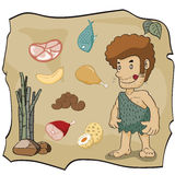 Stone age cartoon, illustration Stock Photo