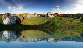 Stone age grave burial site Stock Photography
