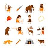 Stone Age Icons Set Stock Image
