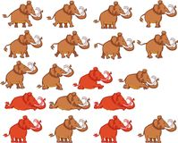 Stone Age Mammoth Cartoon Animation Sprite Stock Photo