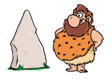 Stone Age man cartoon Royalty Free Stock Photo