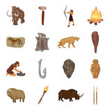 Stone age set icons in cartoon style. Big collection of stone age vector symbol stock illustration. Stone age set icons in cartoon style. Big collection of stone Stock Image