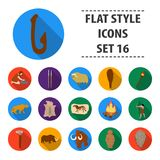 Stone age set icons in flat style. Big collection of stone age vector symbol stock illustration Royalty Free Stock Image