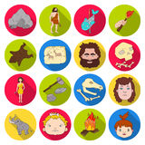 Stone age set icons in flat style. Big collection of stone age vector symbol stock illustration. Stone age set icons in flat design. Big collection of stone age Royalty Free Stock Images