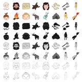 Stone age set icons  Royalty Free Stock Image