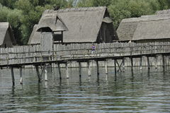 Stone Age Stilt House Village Stock Photos