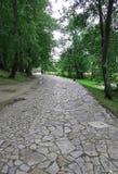 Stone Alee on the island of Trakai,Lithuania Royalty Free Stock Image
