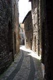 Stone alley. A old alley in the old part of Todi, Italy Royalty Free Stock Photo