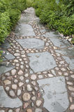 Stone alley in English garden Royalty Free Stock Photo
