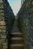Stone alleyway. Dry stone walling alleyway in the Peak District Royalty Free Stock Photography