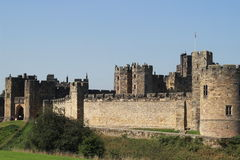 Stone alnwick castle. Alnwick castle in Alnwick town Stock Photos