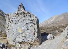 The stone along trek Annapurna Royalty Free Stock Photography