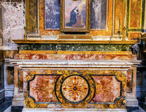 Stone Altar SS Vincenzo E Anastasio Church Rome Italy Royalty Free Stock Images