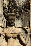 Stone ancient Apsara engraving Royalty Free Stock Images