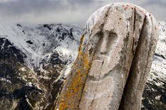 Stone ancient idol mountains Stock Photo