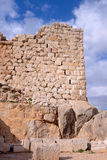Stone ancient inscription at Nimrod fortress Stock Images
