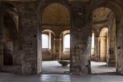 Stone of ancient roman gate Porta Nigra, Trier. Spring Stock Photo
