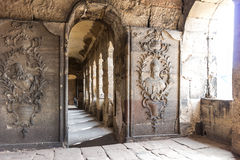 Stone of ancient roman gate Porta Nigra, Trier Royalty Free Stock Images